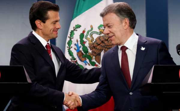 México contribuye con un millón de dólares al proceso de paz en Colombia