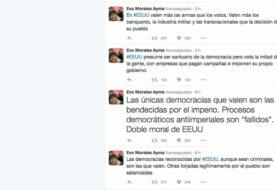 """Evo Morales: """"En Estados Unidos valen más las armas que los votos"""""""