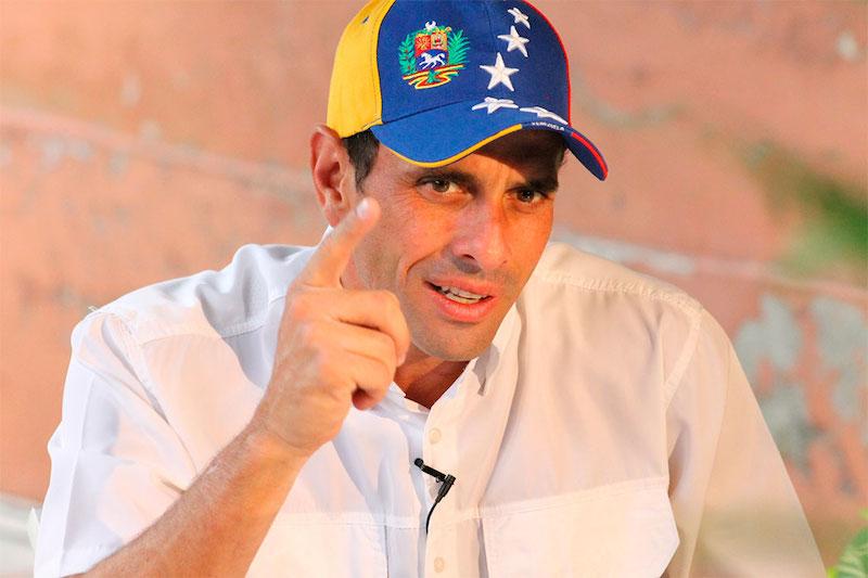 Capriles propone revocatorio a Maduro como único punto en próxima reunión