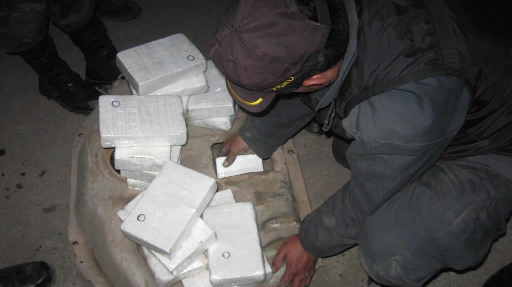 Decomisan 154 kilos de cocaína en Bolivia valorados en 2 millones de dólares