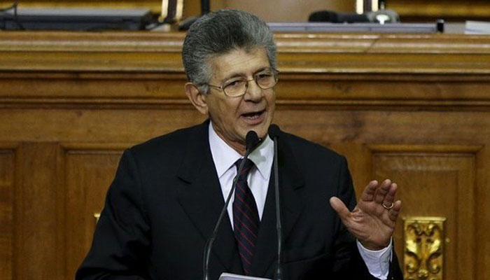 Ramos Allup pide a Gobierno venezolano resultados diálogo antes del domingo