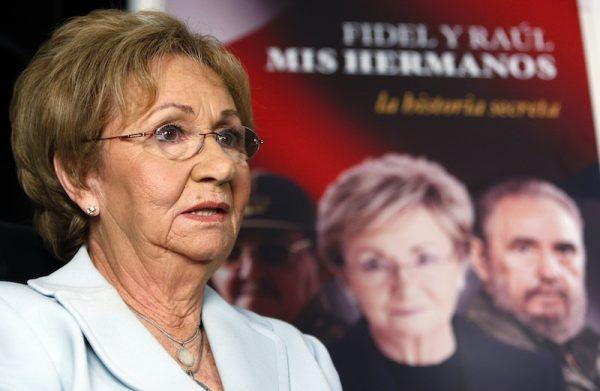 Hermana de Fidel Castro en Miami dice que no acudirá a su funeral en Cuba