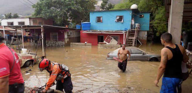 Lluvias afectan a 820 familias en el centro de Venezuela