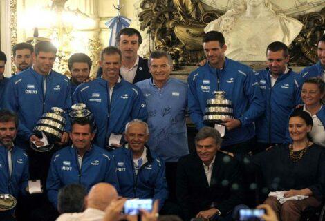 """Macri recibe al equipo campeón de la Davis y califica el título de """"mágico"""""""