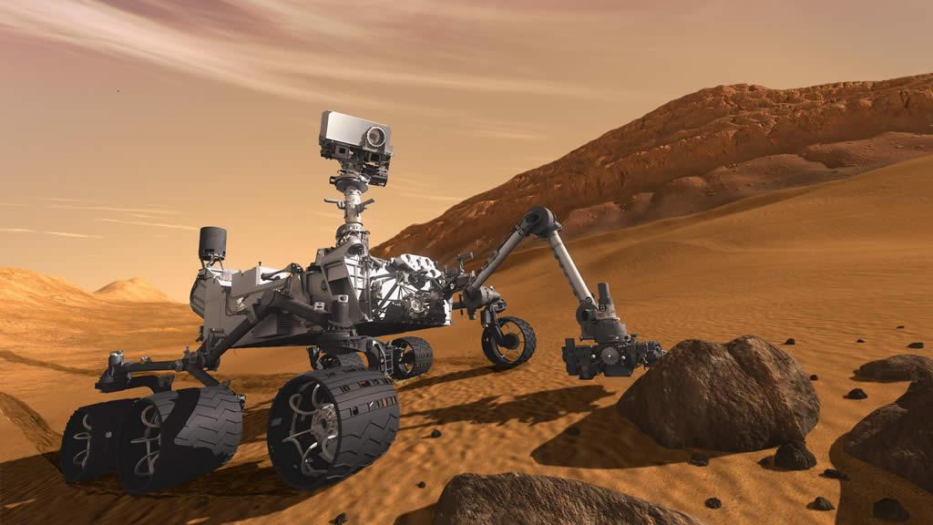 Curiosity encuentra un extraño meteorito metálico en Marte
