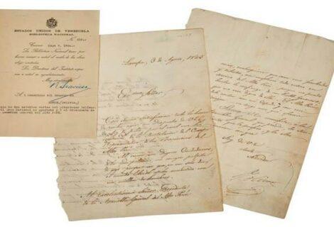 Subastan una carta firmada por Simón Bolívar por unos 23.000 dólares