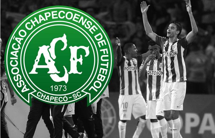 Atlético Nacional pide a Conmebol dar título de la Sudamericana a Chapecoense
