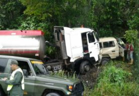 Fallecen cinco militares de la fuerza armada de Venezuela en accidente vial