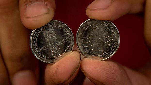 Las nuevas monedas de 50 bolívares comienzan a aparecer en Venezuela