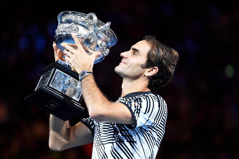 Federer gana su quinto Abierto de Australia