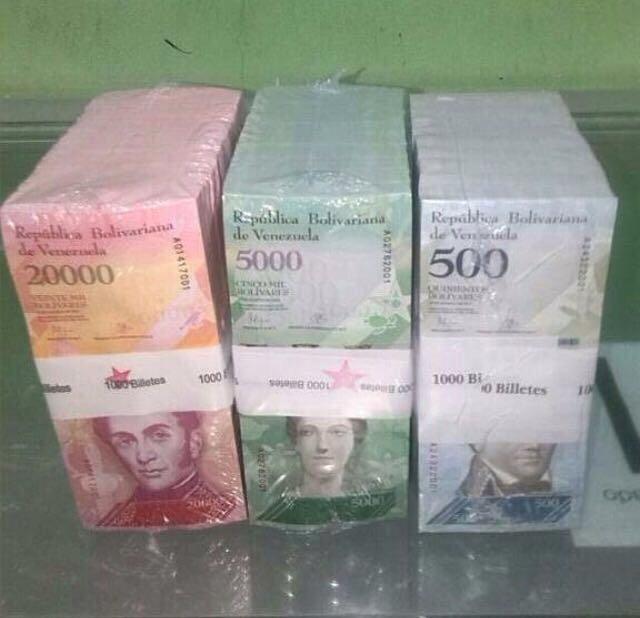 Comienzan a circular billetes del nuevo cono monetario en Venezuela