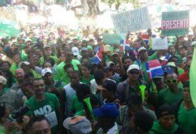 Marchan en Santo Domingo en contra de la corrupción por caso Odebrecht