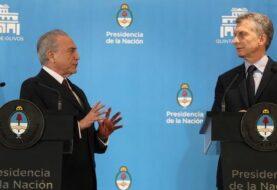 Macri y Temer buscarán espolear el comercio y una mayor apertura del Mercosur