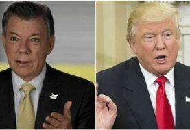 Trump y Santos abordaron apoyo a la paz con las FARC y la crisis en Venezuela