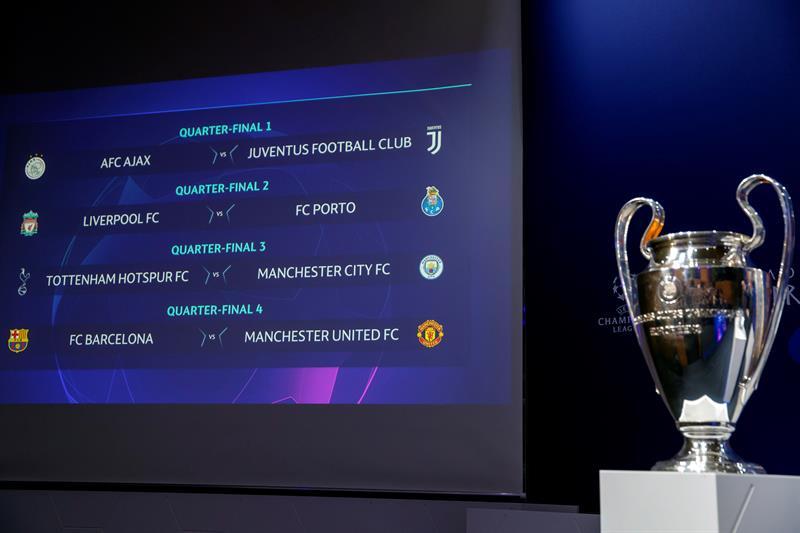 """Definidos los cruces cuartos de final de la """"Champions"""""""
