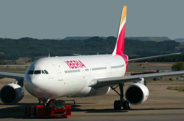 Iberia canceló su vuelo de este lunes a Caracas