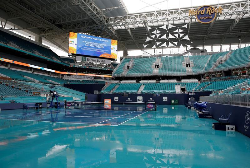 Aplazados para el miércoles los juegos del Miami Open