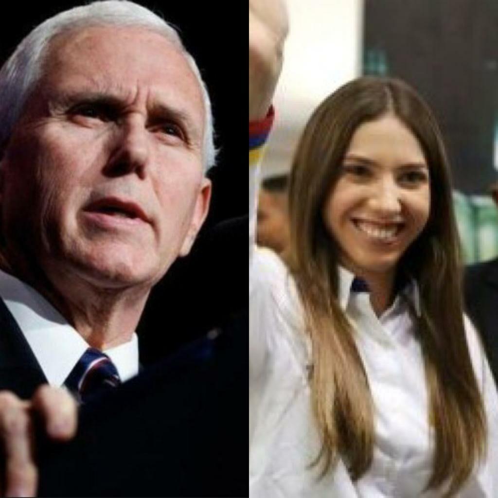 Pence se reunirá con la esposa de Guaidó en la Casa Blanca