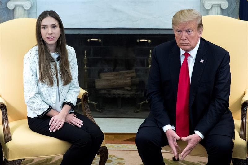 Trump recibe a la esposa de Guaidó en la Casa Blanca