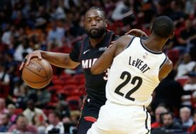 Wade condujo el tercer triunfo al hilo del Heat