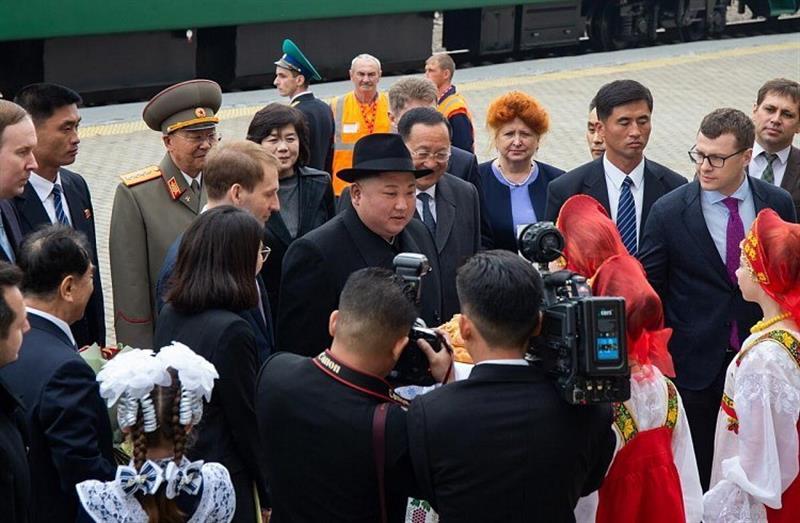 Kim Jong-un llega a Rusia para reunirse con Putin