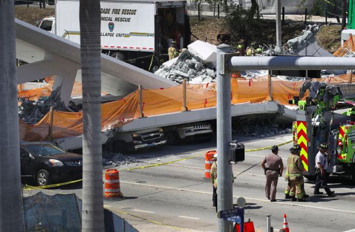 Acuerdo de 42 millones en caso puente peatonal de Miami que se desplomó