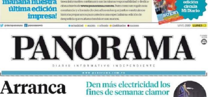 Diario venezolano Panorama cierra por falta de papel