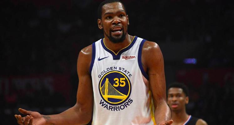 Durant no jugará el segundo partido de las finales contra los Raptors