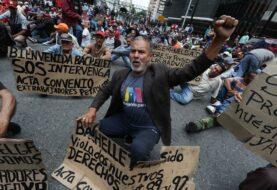 """Protestan en Caracas para mostrar a Bachelet la crisis y """"violación"""" de DDHH"""