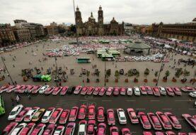 Taxistas protestan contra plataformas de transporte en México