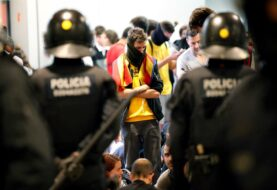 Protestas en las calles de Cataluña se tornan más violentas
