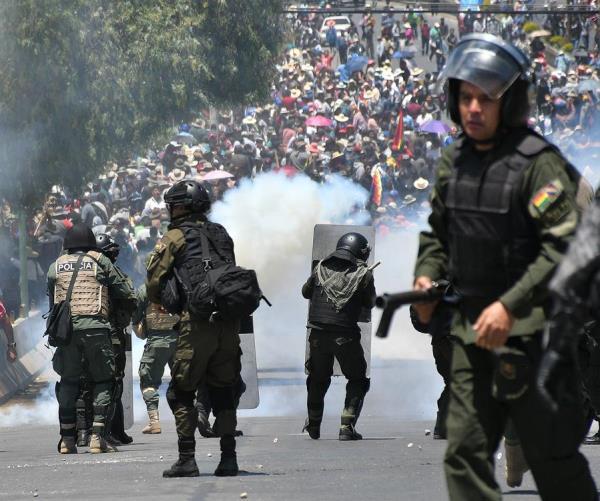 Nueva jornada de protestas violentas en ciudad boliviana tras las elecciones