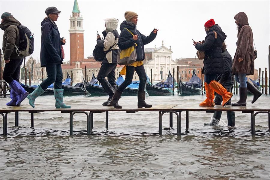 """Venecia sufre una inundación """"apocalíptica"""" (Fotos)"""