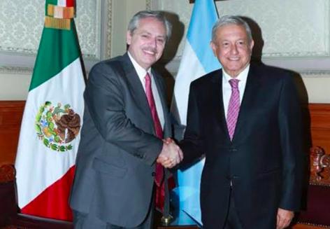 López Obrador recibe al presidente electo de Argentina, Alberto Fernández
