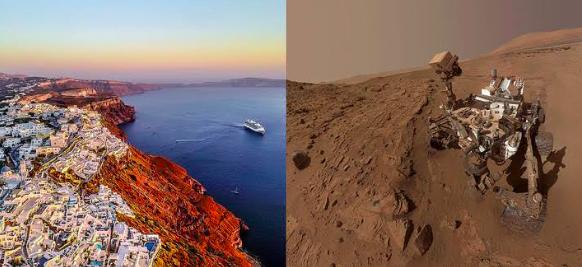 NASA prueba vehículo espacial en los abismos de isla griega de Santorini