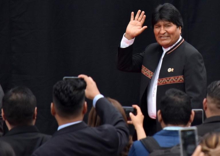 Policia boliviana niega orden de detención a Morales