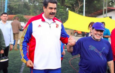Maradona viaja a Venezuela para apoyar a Maduro