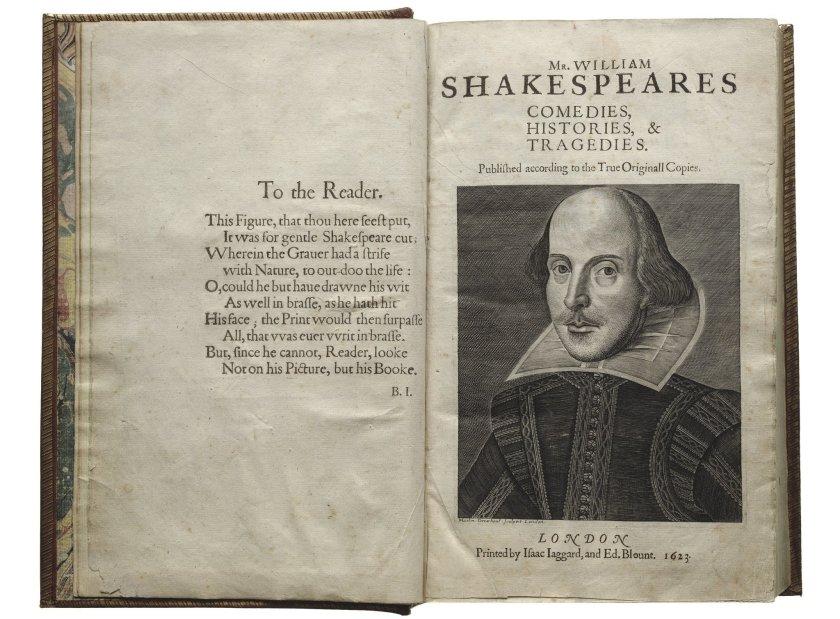 """Subastan un ejemplar del """"Primer Folio"""" de Shakespeare a partir de 4 millones"""