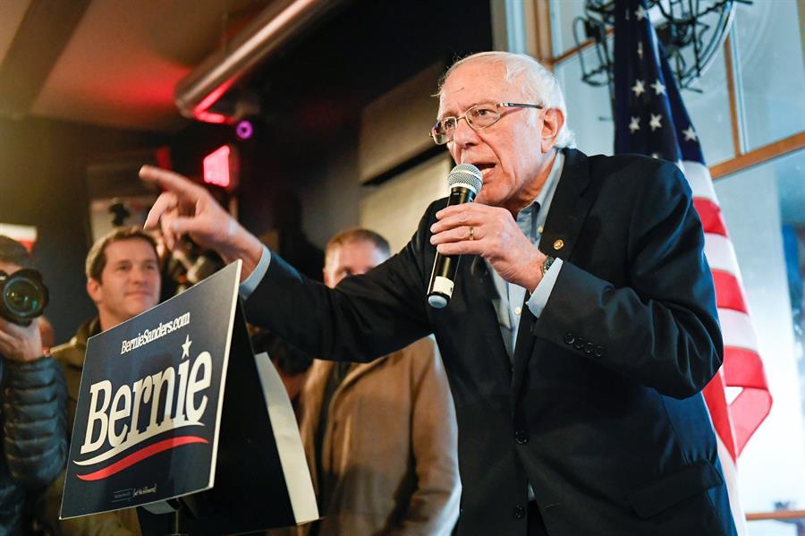 Sanders lidera por delante de Biden la intención de voto