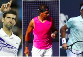 Nadal, Djokovic y Federer estarán en el Abierto de Tenis de Miami