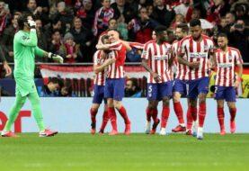 Atlético desarmó al Liverpool en la ida de los octavos
