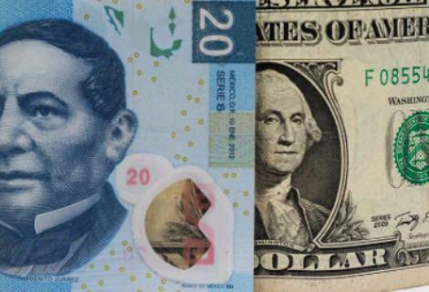 Peso mexicano se aprecia frente al dólar por primera vez en la última semana
