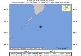 Terremoto de magnitud 7,5 sacude las islas Kuriles de Rusia