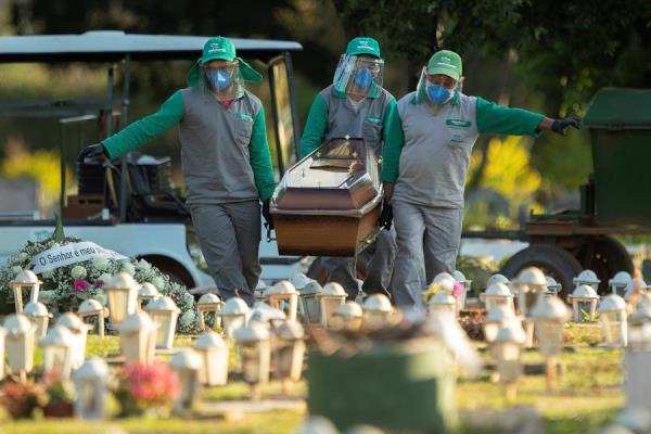 Brasil suma 1.188 nuevas muertes por coronavirus, nuevo máximo diario