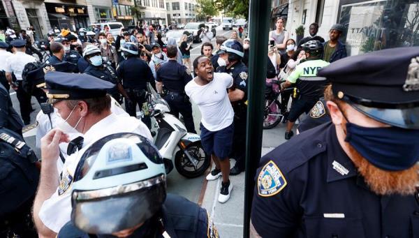 Nueva York se suma a protestas con detenciones por muerte de afroamericano