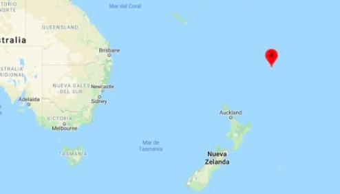 Terremoto de magnitud 7,1 sacude las islas neozelandesas de Kermadec