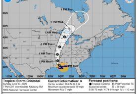 Tormenta tropical Cristóbal toca tierra en Luisiana