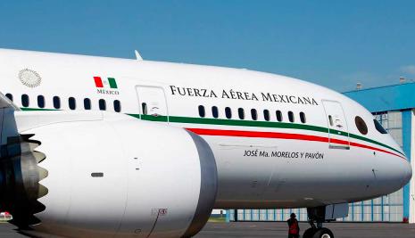 México recibe oferta de 120 millones de dólares por el avión presidencial