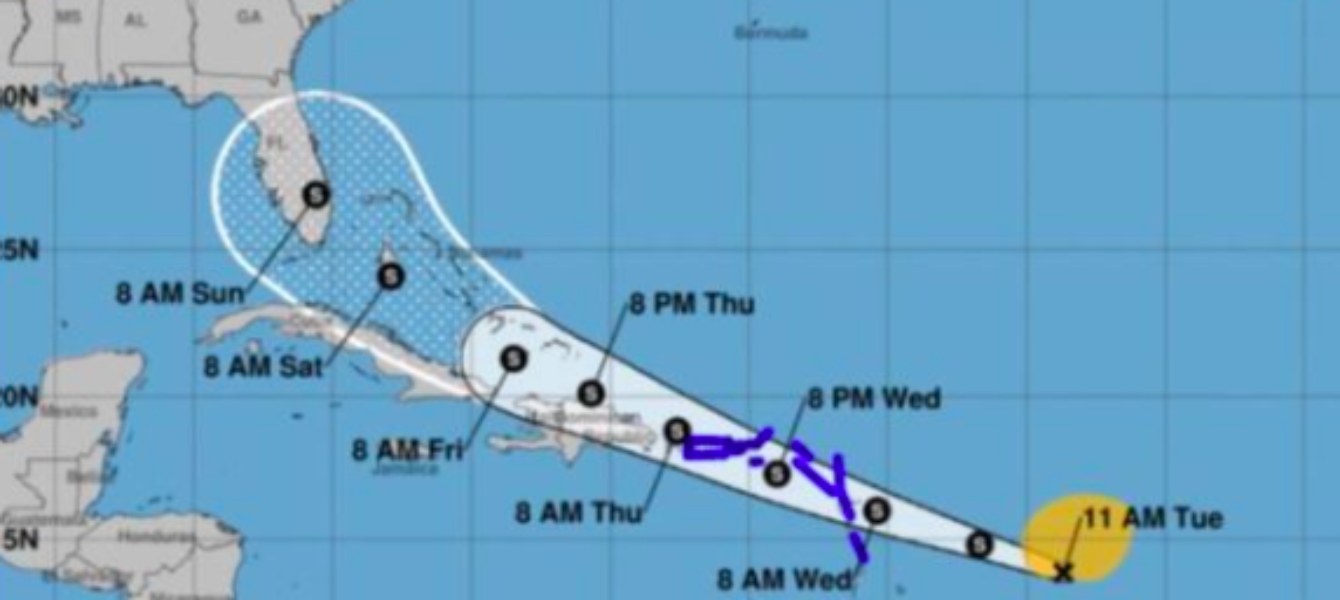 Potencial ciclón nueve podría llegar a Florida a través del Caribe