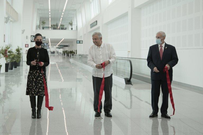 López Obrador inaugura ampliación de Aeropuerto de Ciudad de México